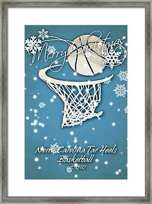 North Carolina Tar Heels Christmas Card 2 Framed Print by Joe Hamilton