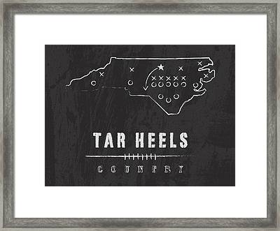 North Carolina Tar Heels Country Framed Print by Damon Gray