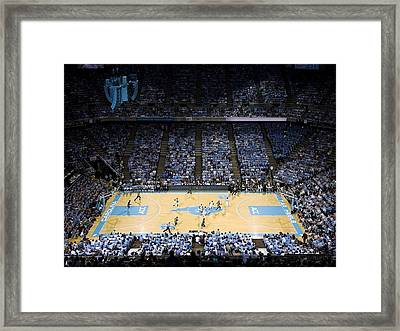 North Carolina Tar Heels Dean E. Smith Center Framed Print by Replay Photos