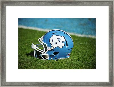 North Carolina Tar Heels Football Helmet Framed Print