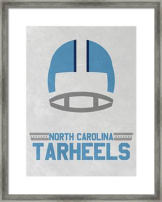 North Carolina Tar Heels Vintage Football Art Framed Print by Joe Hamilton