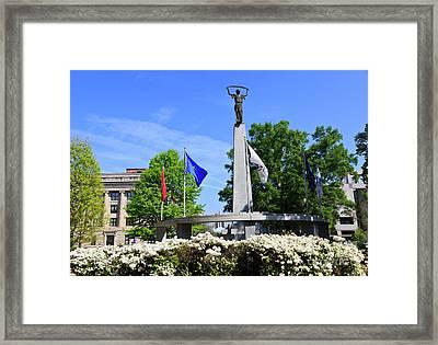 North Carolina Veterans Monument Framed Print