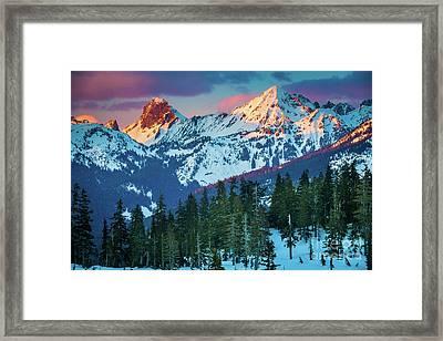North Cascades Sunset Framed Print