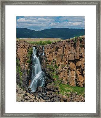 North Clear Creek Falls, Creede, Colorado Framed Print
