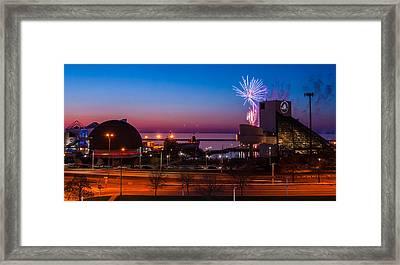 North Coast Harbor Framed Print