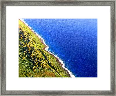 Framed Print featuring the photograph North Coast Of Tinian At Sunrise by MB Dallocchio
