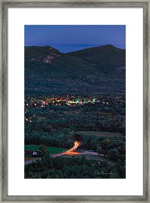 North Conway Dusk 6888 Framed Print