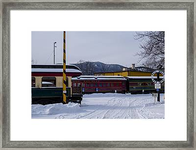 North Conway Nh Scenic Railroad Framed Print by Toby McGuire