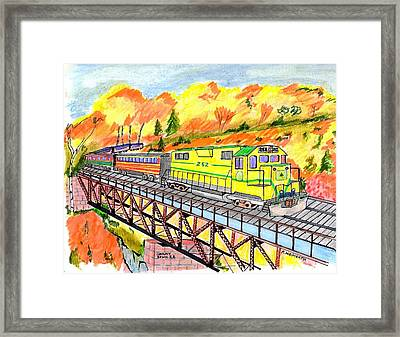 North Conway Scenic Railway Framed Print