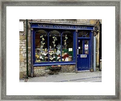 North Cotswold Bakery Framed Print by Lainie Wrightson
