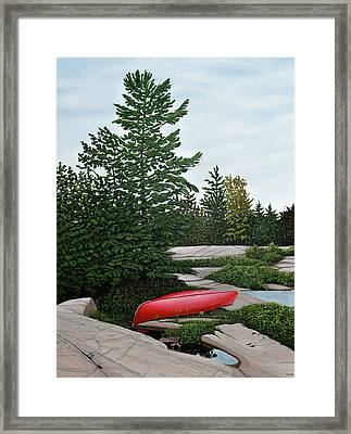 North Country Canoe Framed Print by Kenneth M  Kirsch