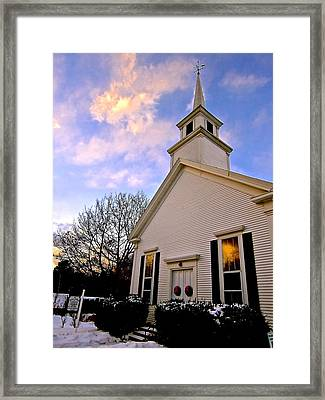North Country Church Framed Print