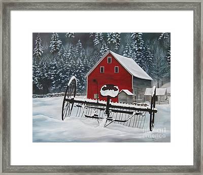 North Country Winter Framed Print