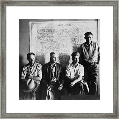 North Dakota Farmers Waiting Framed Print