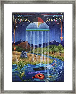 North Dakota Prayer Framed Print by Kristen Holmberg
