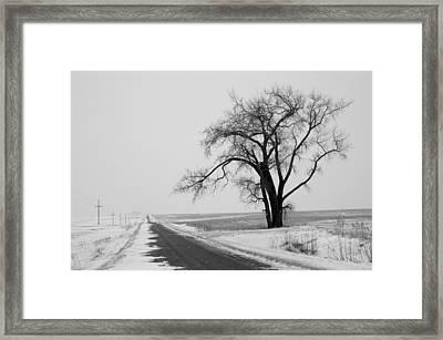 North Dakota Scenic Highway Framed Print by Bob Mintie