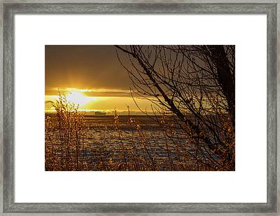 North Dakota Sunset Framed Print