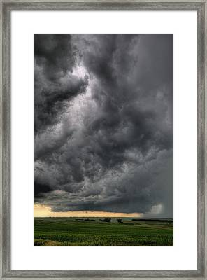 North Dakota Thunderstorm Framed Print