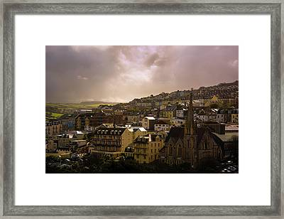 North Devon Town Framed Print by Svetlana Sewell