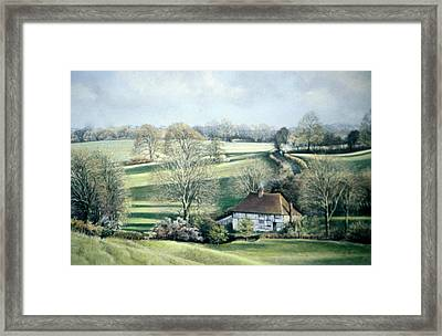 North Downs Hideaway Framed Print
