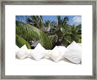North - Eastern African Home - Afternoon Rest In The Sun Framed Print
