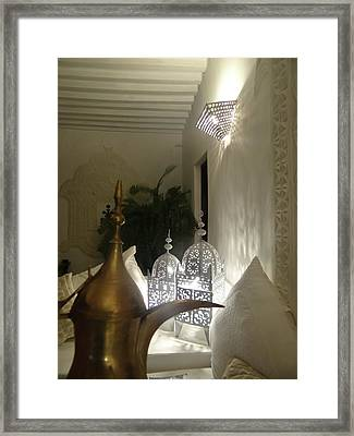 North - Eastern African Home - Lanterns And Jug Framed Print