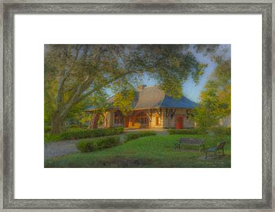 North Easton Train Station Framed Print