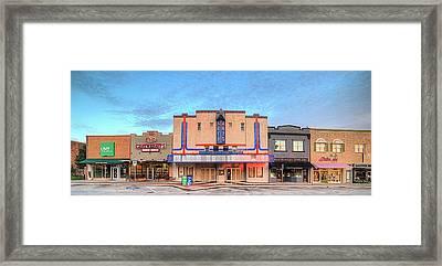 North Elm Street Denton Framed Print