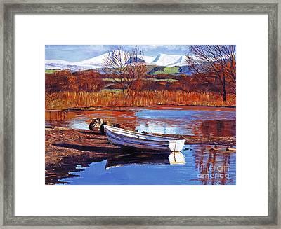 North England Lake Framed Print by David Lloyd Glover