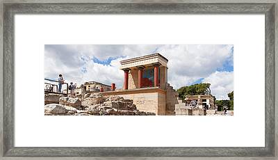 North Entrance Of Minoan Palace Framed Print by Panoramic Images
