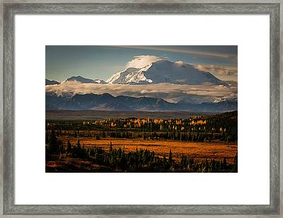 North Face Of Denali Framed Print