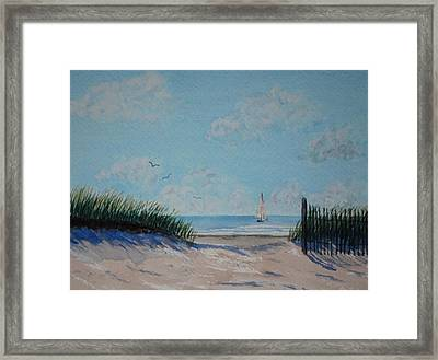 North Forest Beach Framed Print