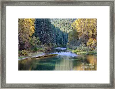 North Fork Gold Framed Print by Idaho Scenic Images Linda Lantzy
