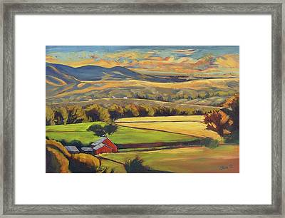 North Fork Panorama Framed Print