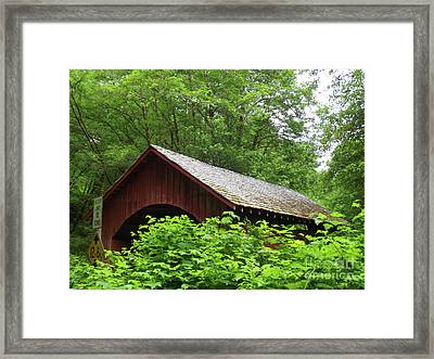 North Fork Yachats Bridge 1 Framed Print by Methune Hively