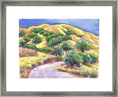 North Gate Road, Mount Diablo Framed Print
