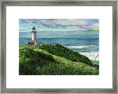 North Head Lighthouse And Beyond Framed Print