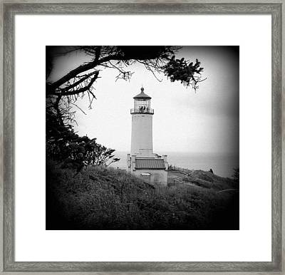 North Head Lighthouse Bw Framed Print by Mg Blackstock