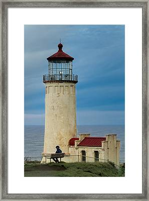 Framed Print featuring the photograph North Head Lighthouse by E Faithe Lester