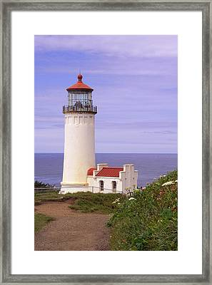 North Head Lighthouse Li 2000 Framed Print by Mary Gaines