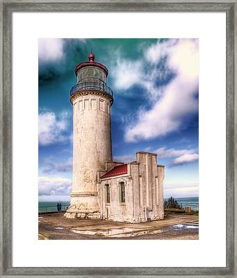 North Head Lighthouse - Washington Coast Framed Print