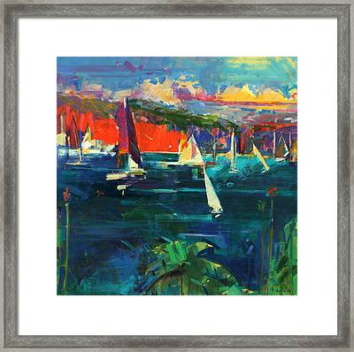 North Head  Sydney Harbour Framed Print by Peter Graham