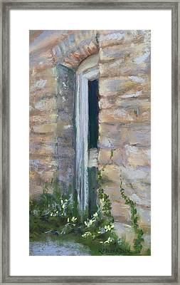 North Hill Alley Door Framed Print