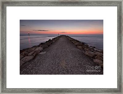 North Jetty Framed Print