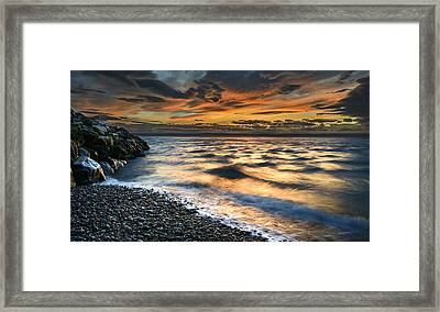 North Jetty Sunset Framed Print