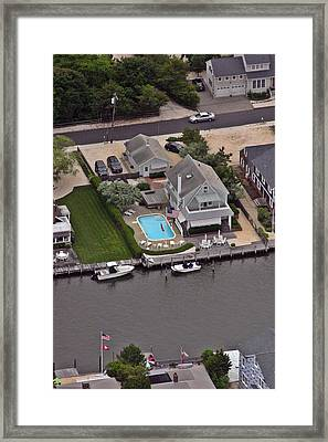 North Lagoon Mantoloking New Jersey Framed Print