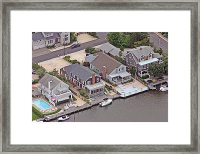 North Lagoon Mantoloking New Jersey II Framed Print