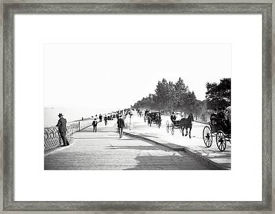 North Lake Shore Drive - Chicago 1905 Framed Print by Daniel Hagerman