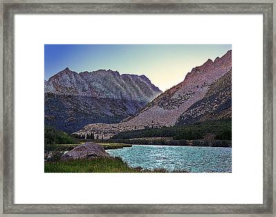 Framed Print featuring the painting North Lake Sunset by Larry Darnell