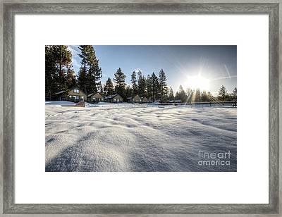 North Lake Tahoe Beach Snow Framed Print by Dustin K Ryan